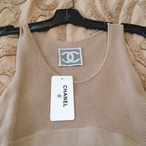 Authentic Chanel cotton tank dress . NWT